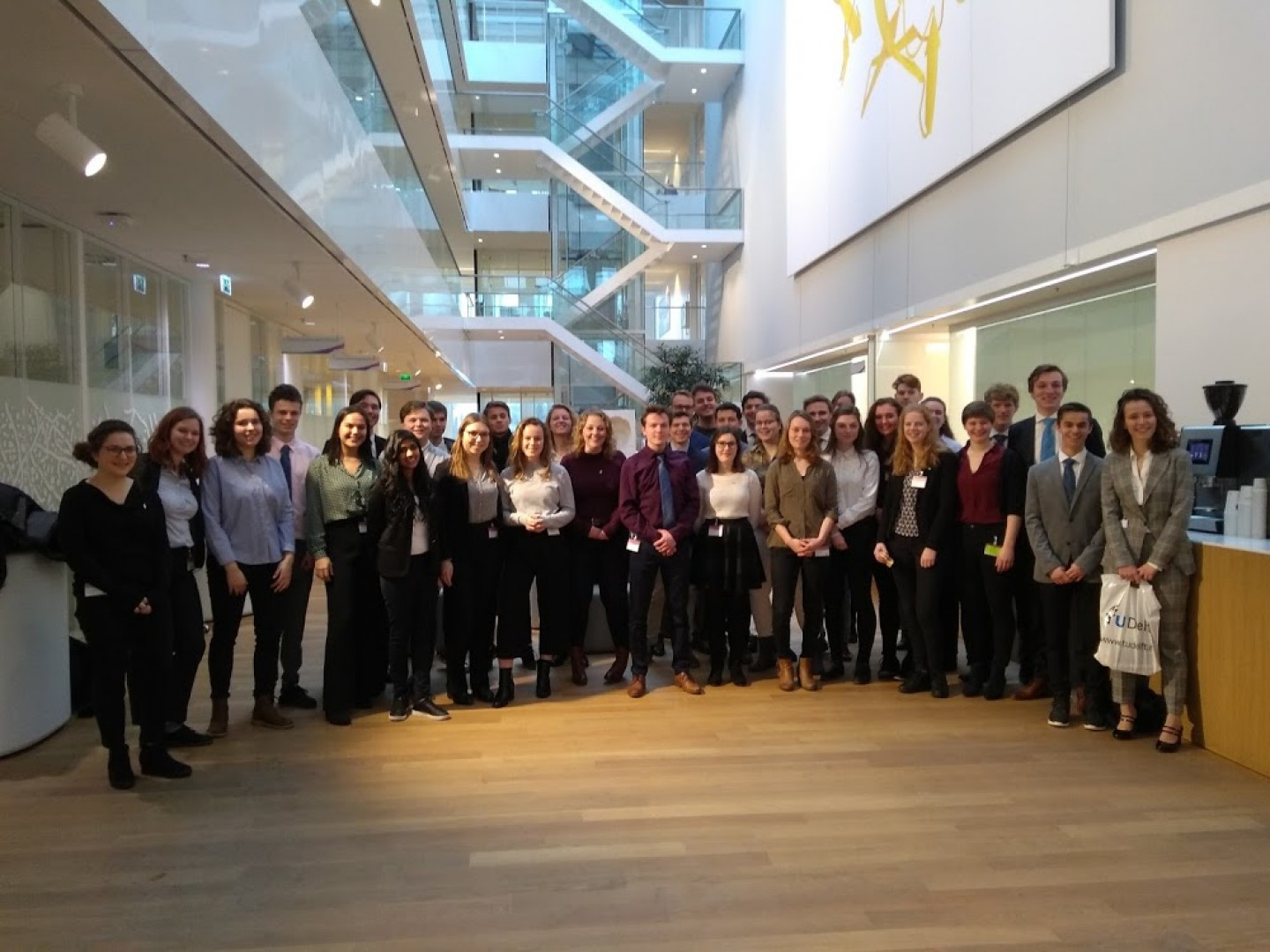 TU Delft and Leiden University students on field trip